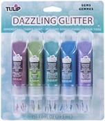 Gems - Tulip Dazzling Glitter Dimensional Fabric Paint 5/Pkg