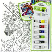 "Unicorn - Canvas Art Paint Kit 10""X10"""