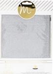"""Silver - Heidi Swapp Minc Glitter Sheets 6""""X8"""""""