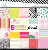 "Color Fresh - Heidi Swapp Single-Sided Paper Pad 12""X12"""