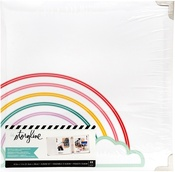 "Rainbow - Heidi Swapp Storyline 3 D-Ring Album 8.5""X11"""