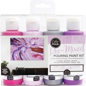 Mulberry Bliss - American Crafts Color Pour Pre-Mixed Paint Kit