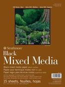 "Strathmore 400 Series Mixed Media Pad - Black 9""X12"""
