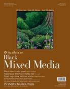 "Strathmore 400 Series Mixed Media Pad - Black 11""X14"""