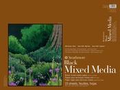 "Strathmore 400 Series Mixed Media Pad - Black 18""X24"""