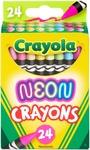 Neon 24/Pkg - Crayola Crayons