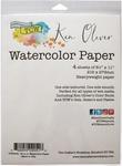 """Ken Oliver Watercolor Paper Pack 8.5""""X11"""" 4/Pkg"""