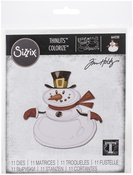 Mr. Snowman, Colorize - Sizzix Thinlits Dies By Tim Holtz