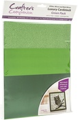 Green - Crafter's Companion Luxury Cardstock Pack