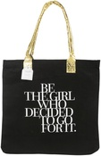 "Be The Girl Who Decided - Teresa Collins Totebag 16""X13"""
