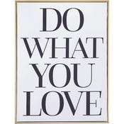 "Do What You Love - Teresa Collins Framed Canvas 11""X14"""