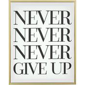 "Never Give Up - Teresa Collins Framed Canvas 16""X20"""