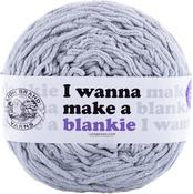 Pearl Grey - Lion Brand I Wanna Make A Blankie Yarn