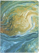 Teal Marble - Softcover Journal