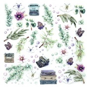 "Eucalyptus - 49 And Market Layered Embellishments 12""X12"""