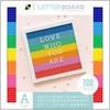 """Multicolor - DCWV Letterboard 12""""x12"""""""