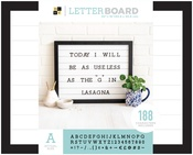 "Shiplap - DCWV Letterboard 20""x16"" with 1"" Letters"