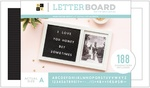 "Photo Frame - DCWV Letterboard 15.5""x9"" Photo Frame"