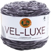Charcoal - Lion Brand Yarn Vel-Luxe