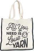All You Need Is Love And Yarn - Lion Brand Canvas Tote Bag