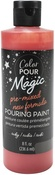 Ruby - Color Pour Magic Pre-Mixed Paint - American Crafts