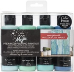 Tidal Wave - Color Pour Magic Pre-Mixed Paint Kit - American Crafts