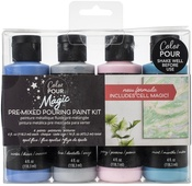 Opal Flux - Color Pour Magic Pre-Mixed Paint Kit - American Crafts