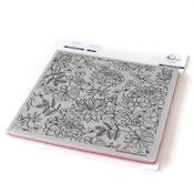 "Enchanted Blooms - Pinkfresh Studio Cling Rubber Stamp Set 6""X6"""