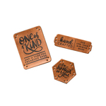 Faux Leather Project Labels - The Hook Nook