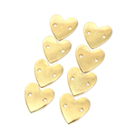 Gold Metal Heart Project Labels - The Hook Nook