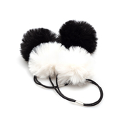 Black/White Fur Pom Skein Saver - The Hook Nook