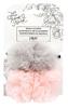 Pink/Grey Fur Pom Skein Saver - The Hook Nook