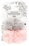 Pink/Grey Fur Pom Skein Saver - The Hook Nook