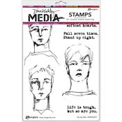 Strong Men Cling Stamps - Dina Wakley