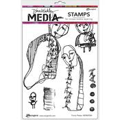 Funny Peeps Cling Stamps - Dina Wakley