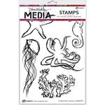 Scribbly Reef Creatures Cling Stamps - Dina Wakley