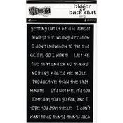 Black Set #2 Dyan Reaveley's Dylusions Bigger Back Chat Stickers