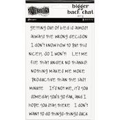 White Set #2 Dyan Reaveley's Dylusions Bigger Back Chat Stickers