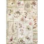 Pressed Flowers Stamperia Rice Paper Sheet A4