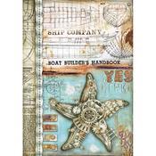 Sea Star Stamperia A4 Rice Paper Sheet