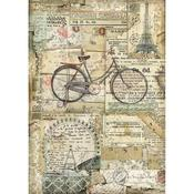 Bicycle Stamperia A4 Rice Paper Sheet