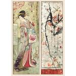 Packed Geisha Stamperia A4 Rice Paper Sheet