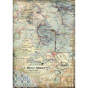 Maps Stamperia A4 Rice Paper Sheet