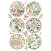 Round Clocks Stamperia A4 Rice Paper Sheet