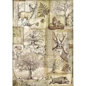 Deer & Wild Boar Stamperia A4 Rice Paper Sheet