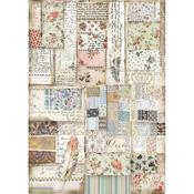Patchwork Feather Stamperia A4 Rice Paper Sheet