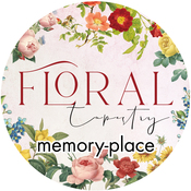 Floral Tapestry Washi Tape 15mm - Memory-Place