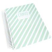 Mint Stripe Canvo Journal