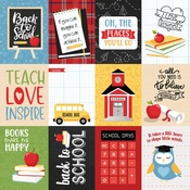 3 x 4 Journaling Cards Paper - School Rules - Echo Park