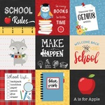 4 x 4 Journaling Cards Paper - School Rules - Echo Park